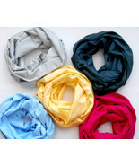 two-color tube/scarf from eco cotton. SET of 5 tube/scarf - special price. - $104.00
