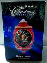 SUSAN WINGET Porcelain Mailbox w Holiday Presents Ornament  2012 Xmas Tr... - $24.49