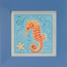 Seahorse 2018 Spring Series Buttons and Beads cross stitch kit Mill Hill  - $13.50