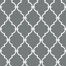"RoomMates Grey Modern Trellis Peel and Stick Wallpaper Gray 20.5"" x 16.5... - $28.50"