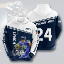 NFL-Seattle-Seahawks Lynch 3D Hoodie Size S-5XL Unisex, Gifts For Fans, Gifts - $35.31+