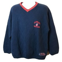 Vintage Active Cleveland Indians Quilted Pullover Sweatshirt L Baseball MLB - $58.40