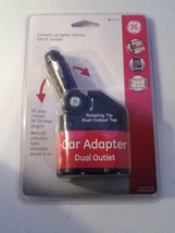 GE Car Adapter Dual Outlet Rotating Tip #74355 2 - 12V DC Sockets New - $9.99
