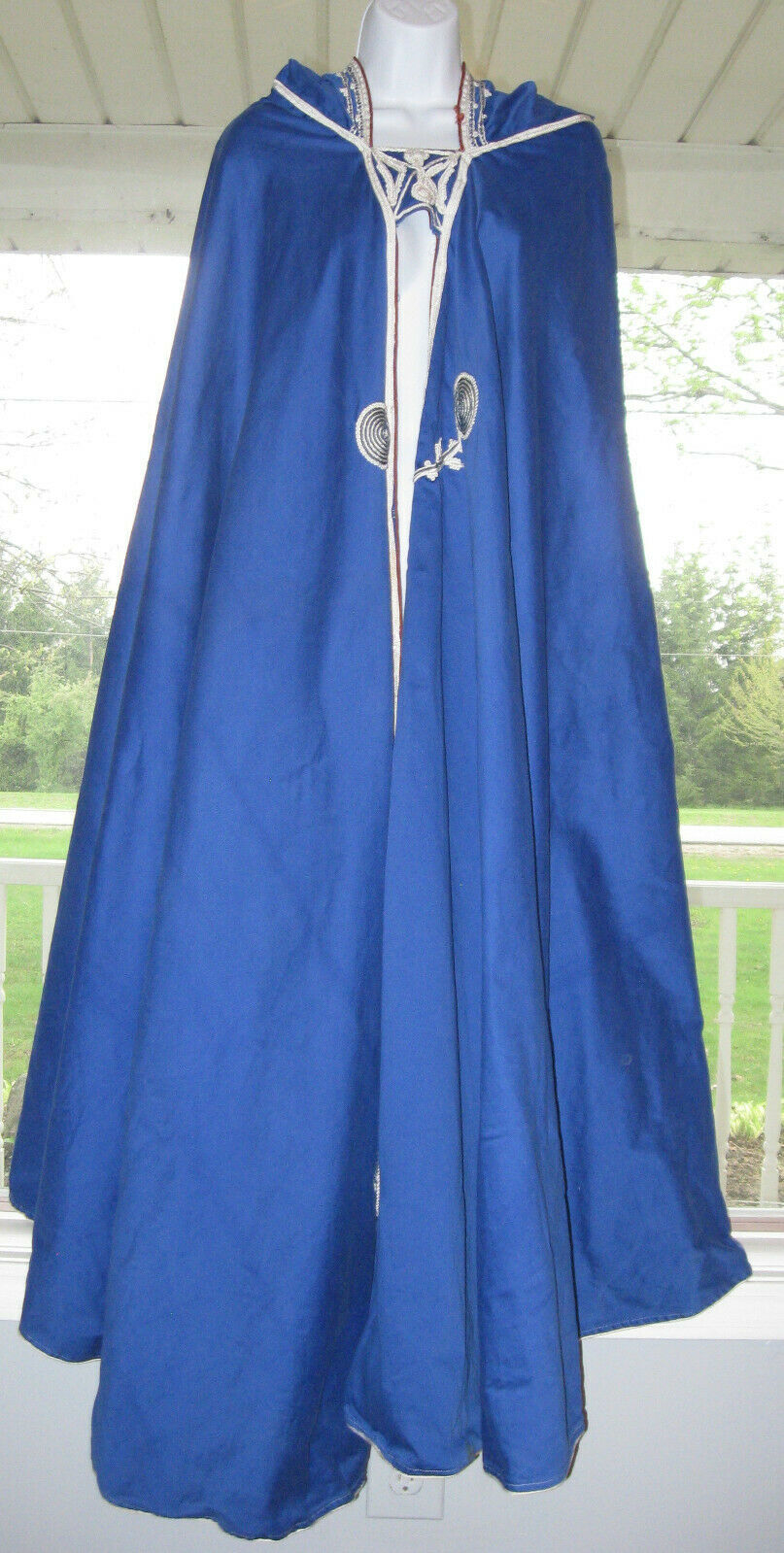 Primary image for Blue Hood Cloak Cape Anime Renaissance Cosplay Game Of Thrones Women Handmade