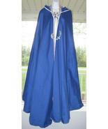 Blue Hood Cloak Cape Anime Renaissance Cosplay Game Of Thrones Women Han... - $49.99