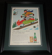 1959 Seven 7 Up Holiday 11x14 Framed ORIGINAL Vintage Advertisement B - $46.39