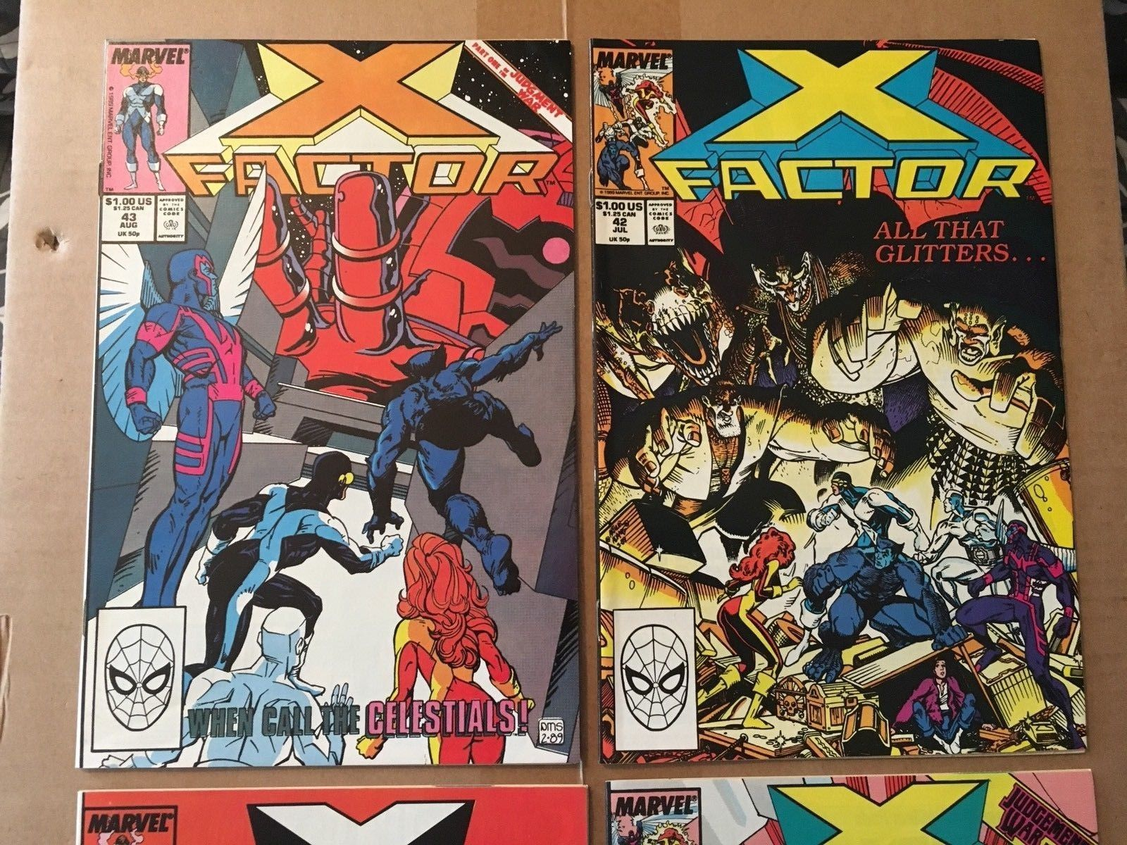 X-FACTOR #41 42 43 44 Marvel Comic Book Lot Of 4 VF+/NM Condition 1989 X-MEN