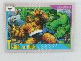 1991 Marvel #103 Thing Vs Hulk Trading Card - $9.90