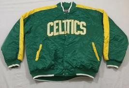 M45 Rare Hardwood Classics Boston Celtics G3 Sports Winter Bomber Jacket Mens Xl - $178.15