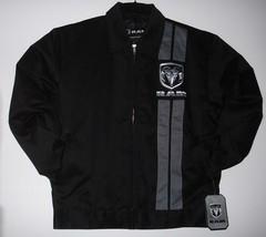 Size XL  Authentic Dodge Ram Racing Mechanic Printed Jacket JH Design Black XL - $75.00