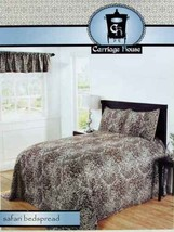 SAFARI ANIMAL PRINT CHOCOLATE FULL BEDSPREAD SHAMS VALANCE 4PC BEDDING S... - $87.70