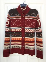 Tommy Hilfiger Kids Fair Isle Wool Cardigan Xl 16 Button Sweater Unisex - $59.38