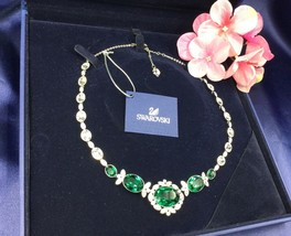 AUTHENTIC SWAN SIGNED SWAROVSKI BRAZIL ALL-AROUND NECKLACE 5076875 - $179.00