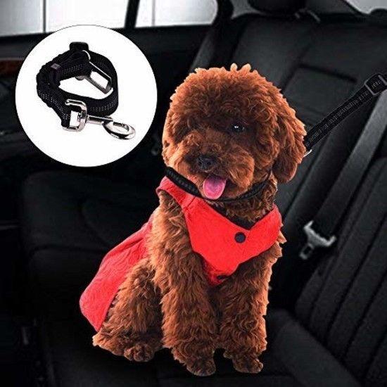 Just Pet Zone 2 Pack Premium Dog Car Seat Belt, Adjustable Leads Harness Cars Ve