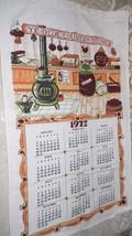 "VINTAGE 1972 LINEN CLOTH CALENDAR KITCHEN TOWEL ""YE OLDE COUNTRY STORE"" - $8.90"