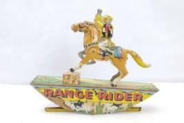 Vintage Marx Range Rider Tin Litho Wind Up Toy Cowboy For Parts - $69.99