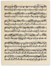 "STAMPENDOUS 460546 Mounted Stamp 3""X4.5"", Music Score - $21.16"