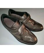 Clarks Women Shoe Wave Peak Size 7.5 N Bronze Brown Mary Jane Walking Pr... - $32.87 CAD
