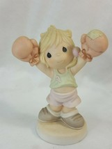 Precious Moments LIFE IS WORTH FIGHTING FOR 680982 Figurines 1987 Enesco... - $11.95