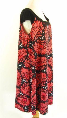 KSL Size 18W NEW Floral  Matte Jersey Knit Swing Dress
