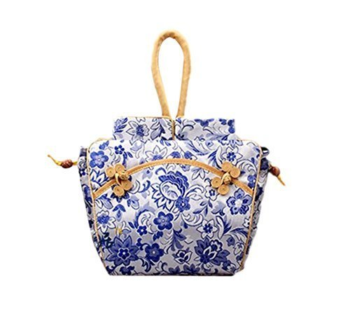 Fashionable Blue and White Handbags for Women Graceful Purse