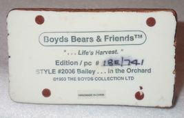 Boyd Bearstone Resin Bears Bailey In The Orchard Figurine #2006 18E NEW IN BOX image 5