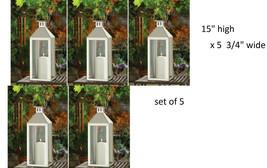 """5 set stainless steel Silver 15"""" Candle Lantern holder malta wedding cen... - $125.86"""