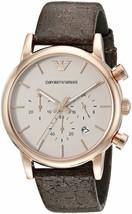 Emporio Armani Women's AR1809 Fashion Brown/Black Leather Watch - $113.91