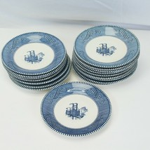 """Currier and Ives Saucers 6.5"""" Steamboat Lot of 16 - $22.53"""