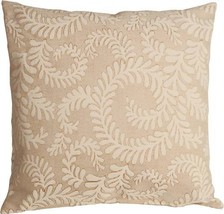 Pillow Decor - Brackendale Ferns Cream Throw Pillow 22x22 - $59.95