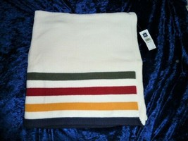 Boy Girl BABY GAP Cream Stripe Sweater Blanket Knit Navy Blue Yellow Red Green - $68.80