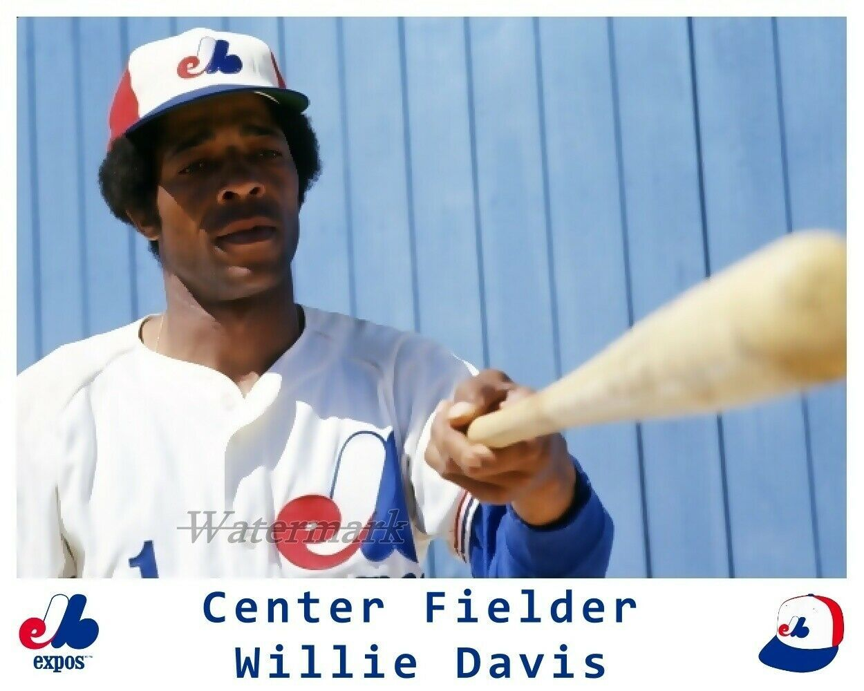 MLB 1974 Willie Davis Montreal Expos Color 8 X 10 Photo Picture  - $5.99