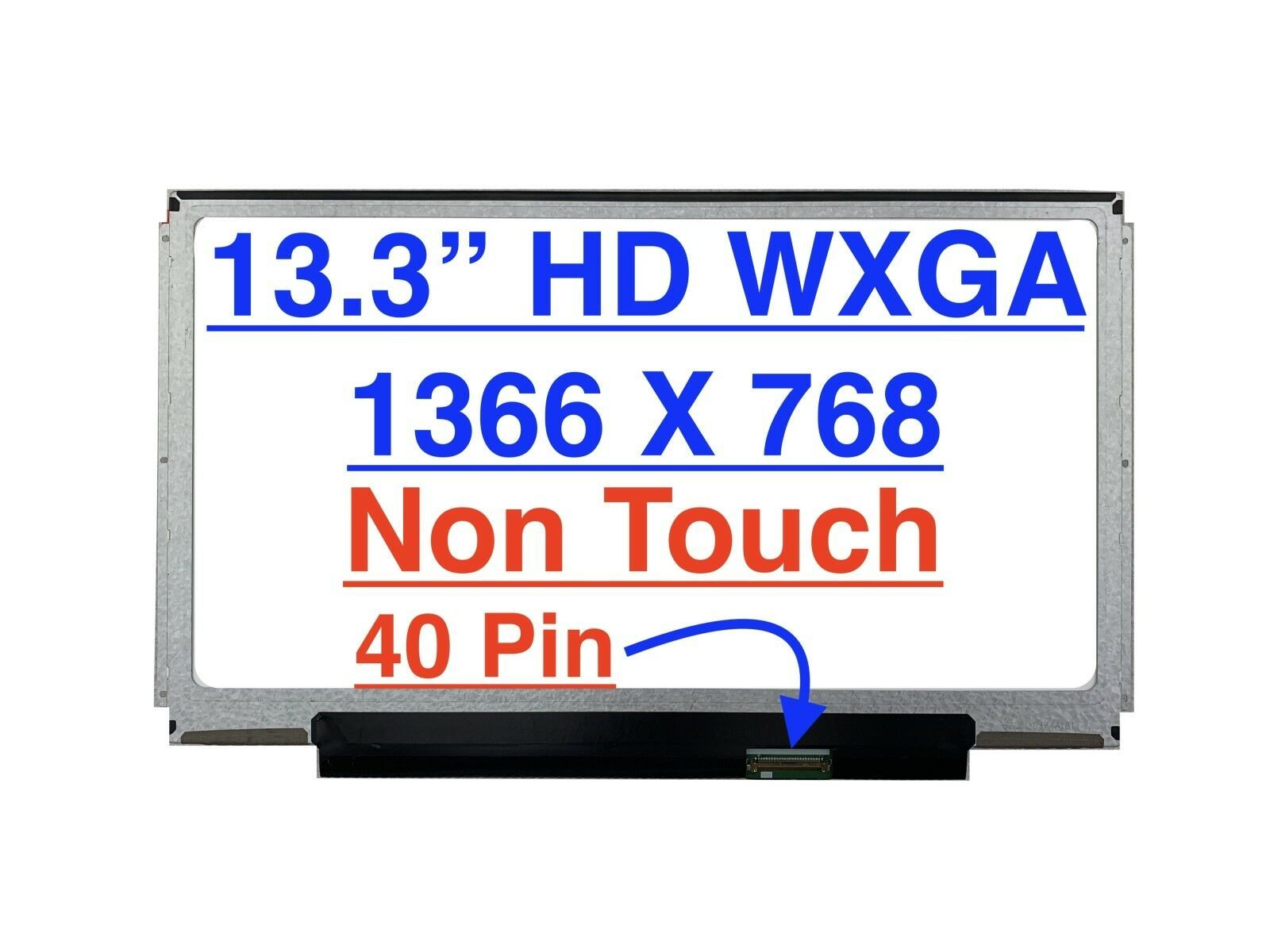 "Primary image for ThindPad X1 1296 Series 13.3"" HD Slim LED LCD Screen 1366 x 768"