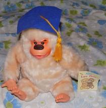 "VTG Russ Berrie 7"" tall Graduation Hat Gonga Gorilla Thumbsucking Plush ... - $14.95"