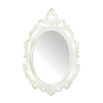 Accent Plus Antiqued White Wall Mirror - $51.99