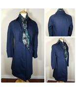 Hampton Court Vintage Women's Rain Coat Jacket Navy Blue + Matching Scar... - $30.06