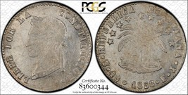 1858-PTS Bolivia 4 Soles PCGS MS60 Lot#G972 Silver! Nice UNC Example! - $187.00