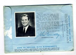 Governor John Connally State of Texas Bluebonnet Seeds in Envelope - $17.82