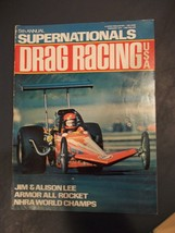Vintage February 1975 Issue Of DRAG RACING Magazine Armor All Rocket, NH... - $12.86