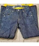 Vans X 7 For All Mankind Snowboard Pants Denim Indigo Jeans Flare Vintag... - $295.02