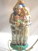 Patricia Breen Mercury Glass Ornament Man Woman potted Plant with tag - $39.59