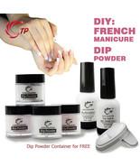 Dip Powder Stater Kit Of French Manicure Nail Arts Professional Salon Se... - $31.29