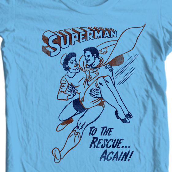 Superman to the Rescue T-shirt Classic Super Friends DC comics tee SM1946