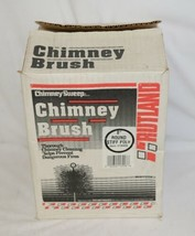 Chimney Sweep 16908 Eight Inch Round Stiff Poly Brush Red image 1