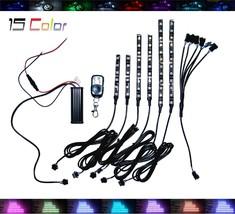 6x Wireless 15 Color LED Flexible Motorcycle Lighting Kit 54 Bonneville Bobber - $54.45
