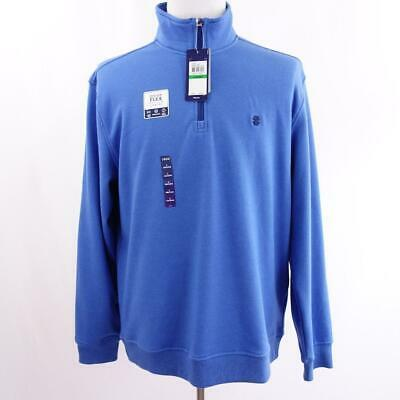 Primary image for Izod Advantage Performance Stretch Blue 1/4 Zip L/S Polo Mens Sz L New