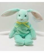 RARE-Ty Hippity Rabbit Beanie Baby- Misprinted-Tag Errors 1996 Green Bun... - $6,336.00