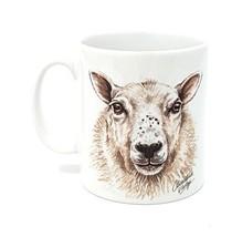 Designer Christine Varley Farm Sheep Made In Uk Present Gift Ceramic Mug Cup Pot - $12.63