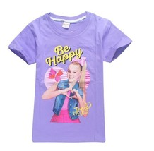 NWT Jojo Siwa Assorted Colors Be Happy Girls Bow T-Shirt Sizes 3 4 5 6 7... - $10.99