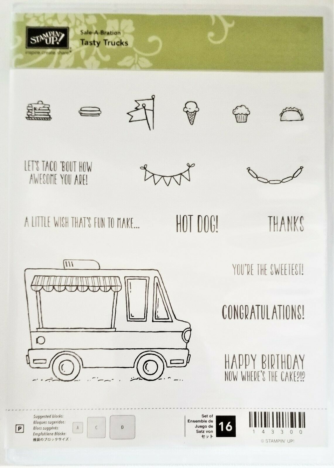 "Primary image for NEW!  Stampin' Up ""Tasty Trucks"" Stamp Set #143300"